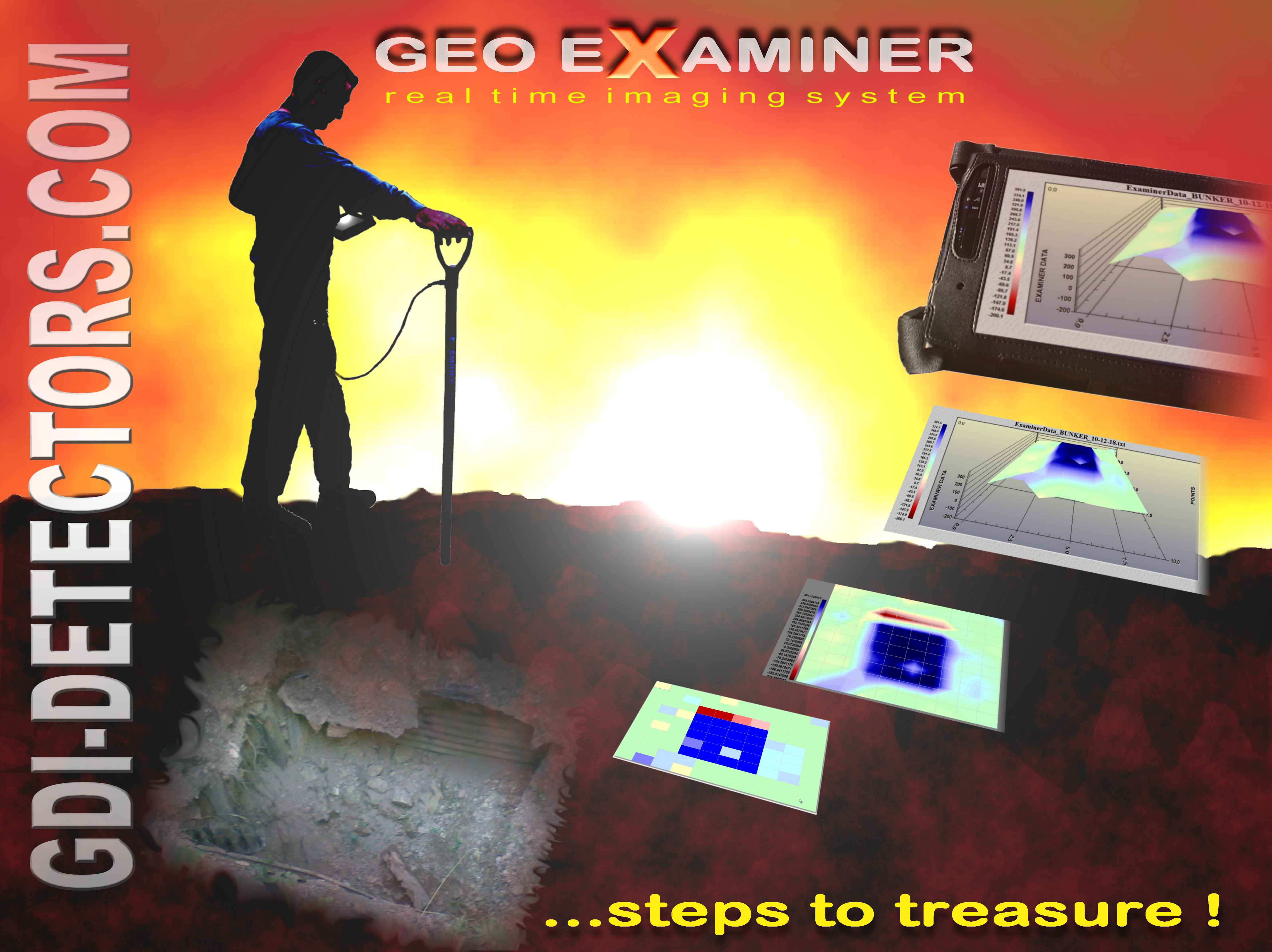 Gdi Detectors Geophysical Instruments Metal Gold Image Locators Detector Professional Detecting Long Range Geo Examiner