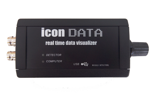 icon data 3D metal detector data logger