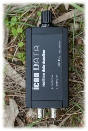 icon data logger for metal detectors