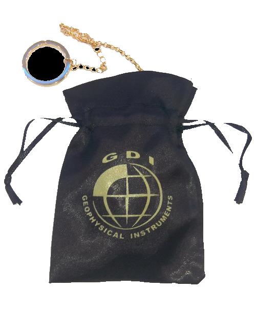 pouch Cronos gold dowsing pendulum