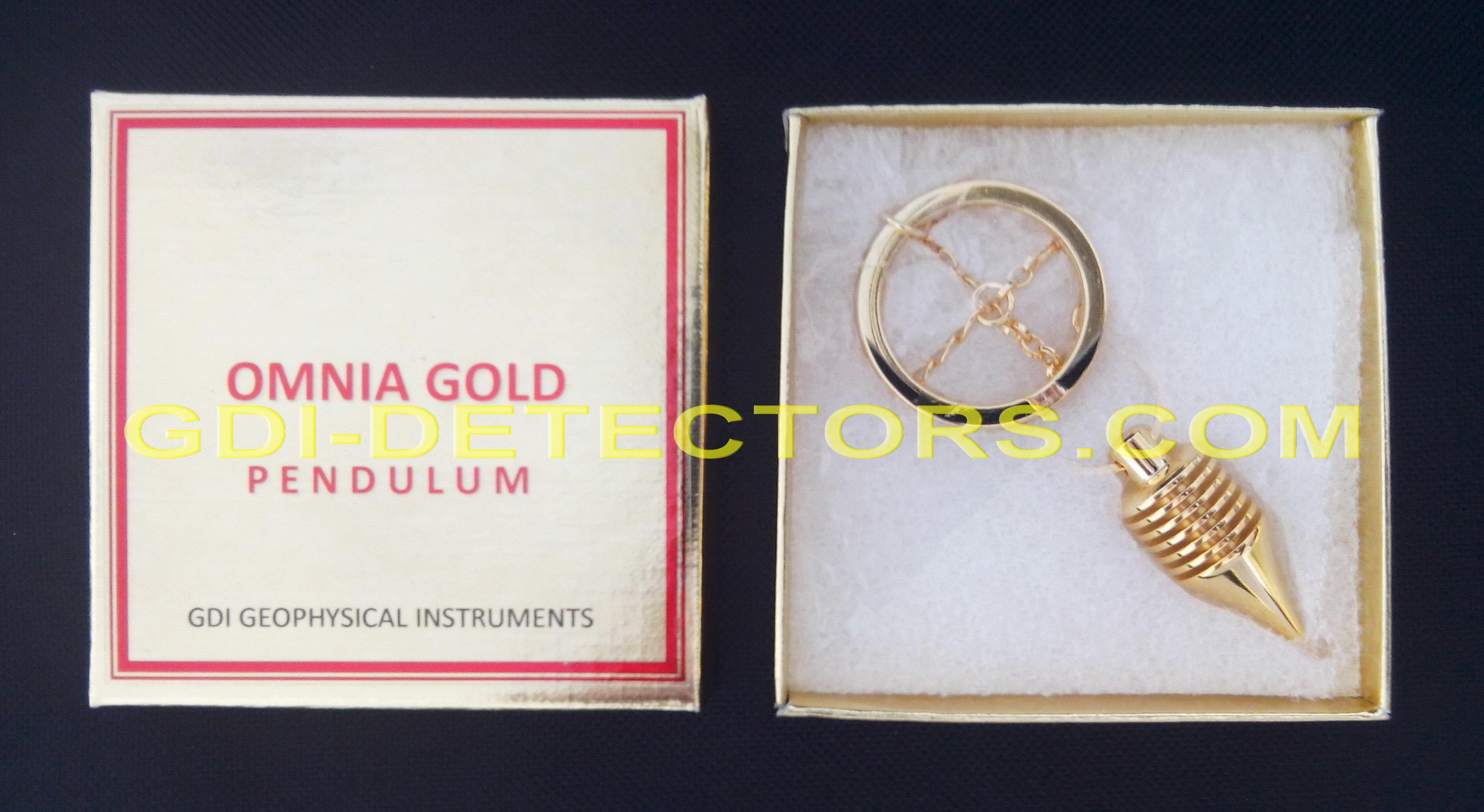 professional OMNIA gold dowsing pendulum