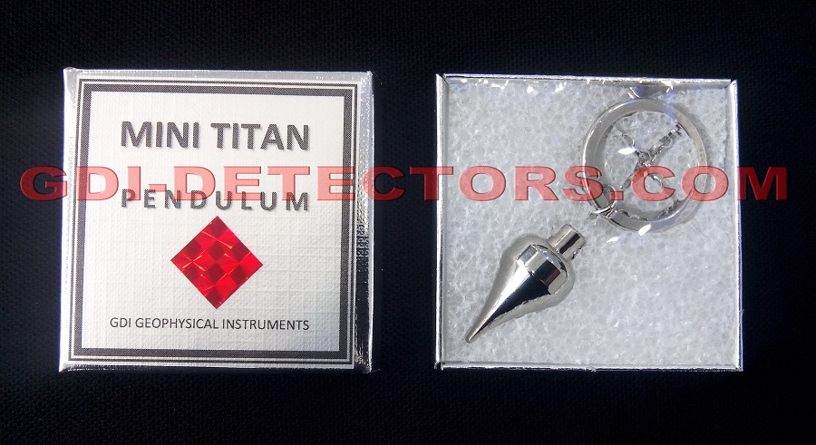 Dowsing pendulum for gold MINI TITAN pouch