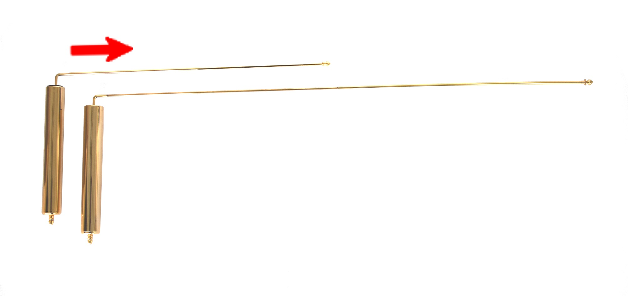 TELERODS telescopic L dowsing rods gold dowse