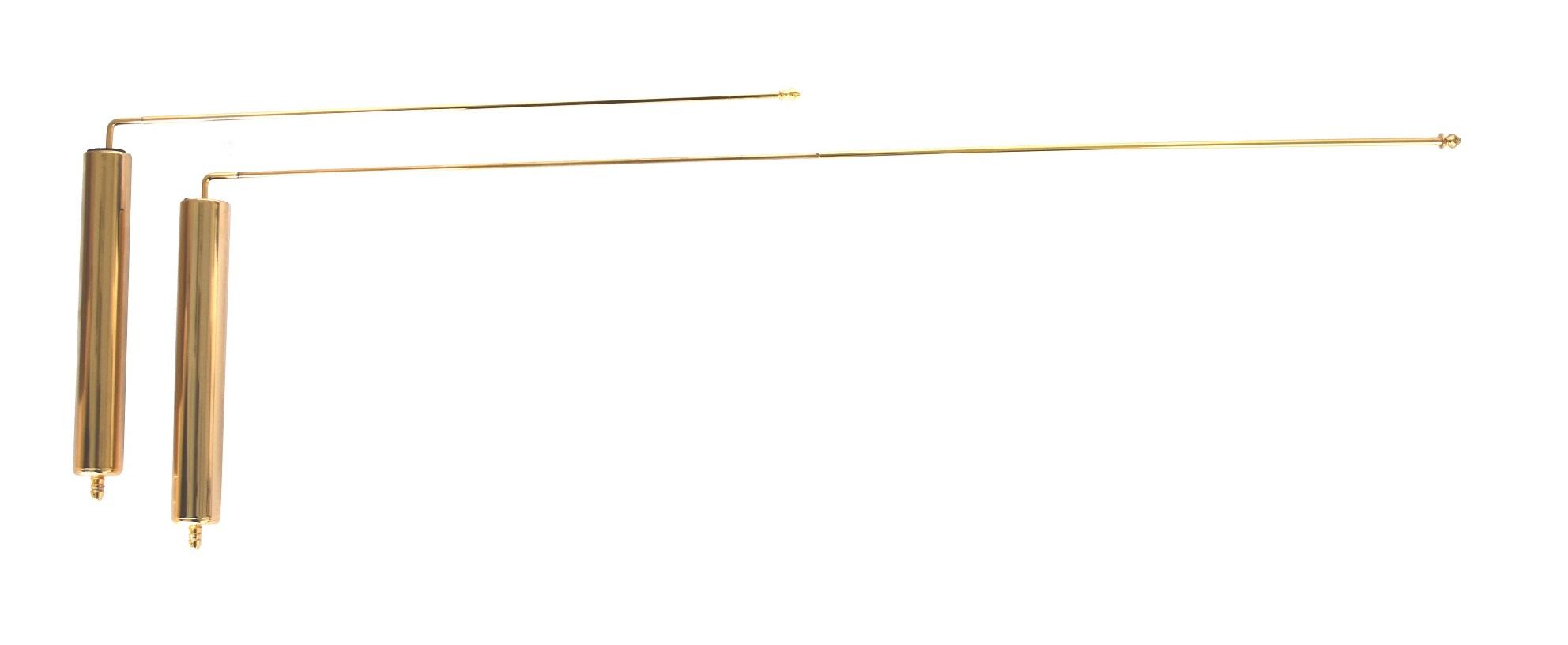 TELERODS set telescopic gold dowsing rods